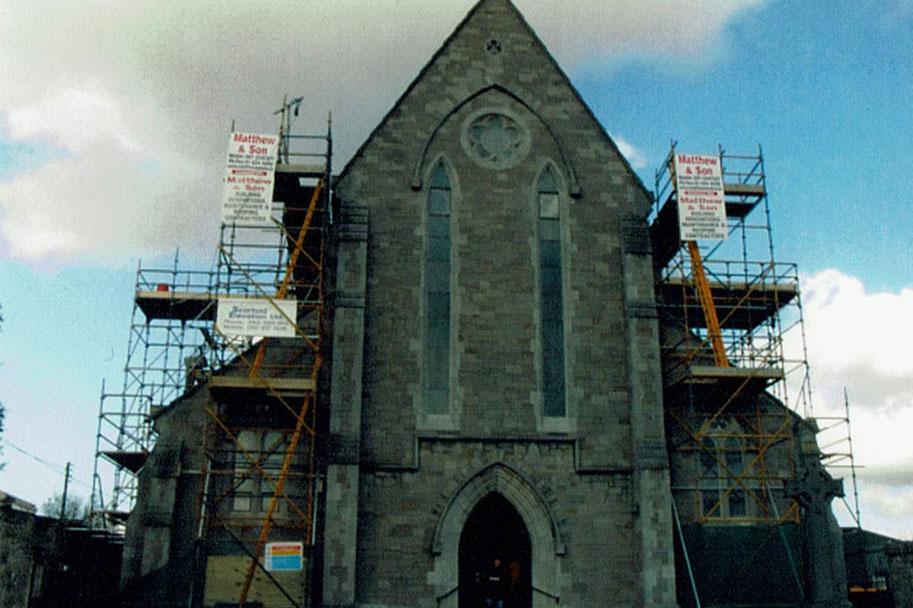 A roofing job carried out on church by Matthew & Sons