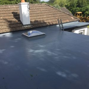 Insulated Fibre Glass Roof With New Triple Glazed Dome